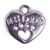 Pendant Heart With Best Friend Antique Pewter